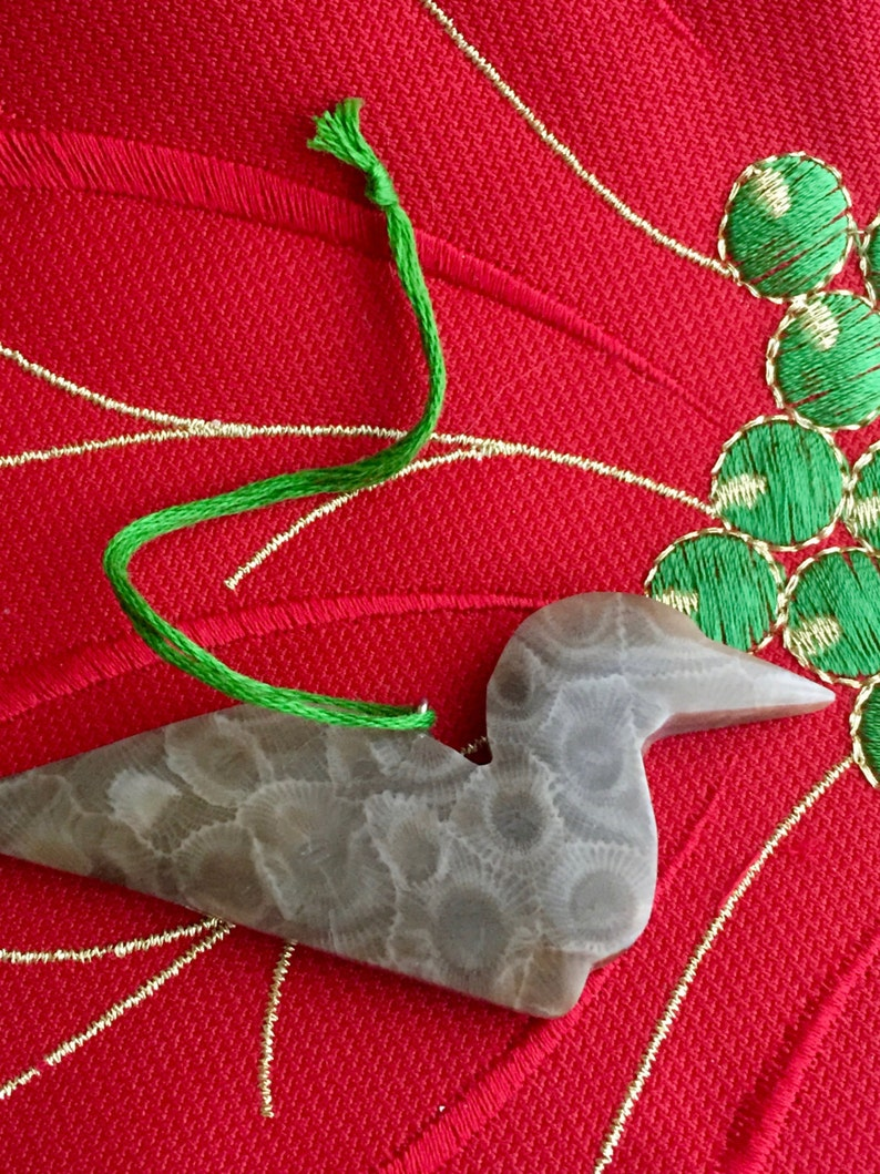 Michigan Canada Loon Michigan Christmas Ornament Petoskey Stone Minnesota Christmas Ornament Ontario