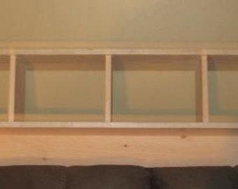 "ON SALE 52 inch- Cubby Shelf- Dimensions: 52""W x 8 1/4""D x 15"" H"