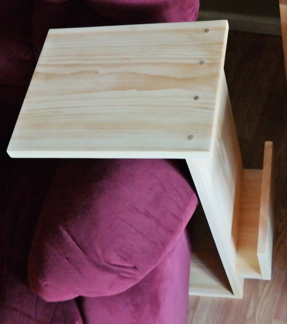 Astonishing Sofa Chair Arm Rest Tv Tray Table Stand With Side Storage Slot Lamtechconsult Wood Chair Design Ideas Lamtechconsultcom