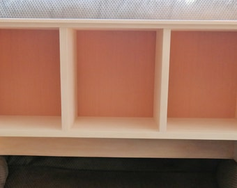ON SALE Unfinished Cubby Shelf Entryway Shelf Mudroom Shelf Cubby Storage