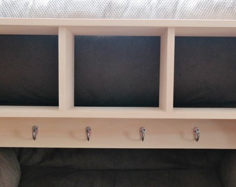 ON SALE Unfinished Cubby Wall Shelf Country Shelf