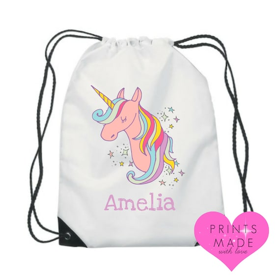 UK Unicorn Kids Character Swimming-Bag Gym Bag Pump Bag Sports School Drawstring