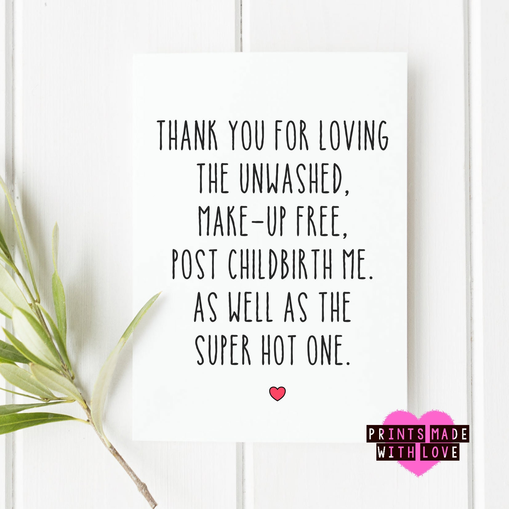 Funny Birthday Card Boyfriend Husband Make Up Free Me Child Birth