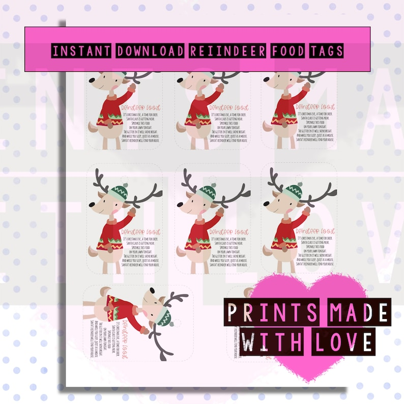 graphic about Printable Reindeer Food Tags named Reindeer food items labels , Printable , Fast obtain , Xmas crafts , College fete , Very little office , tags , present tags