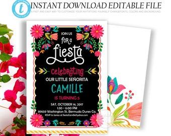 fiesta invitation download etsy