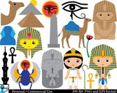 Egypt - Set Clipart - Digital Clip Art Graphics, Personal, Commercial Use - 51 PNG images (00028)