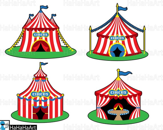 Circus tents Clipart / Cutting Files svg png jpg dxf ...