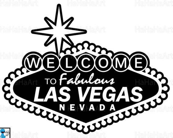 Las Vegas sign Clipart / Cutting Files Svg Png Jpg Dxf | Etsy
