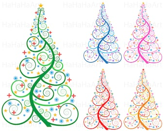 Christmas Tree Cutting Files Digital files svg jpg png dxf studio Vinyl Design files Personal Commercial use Instant Download color 00128c