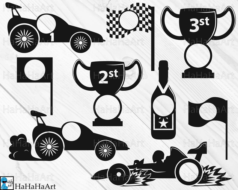 Race Car Circle Monogram V1 Clipart Cutting Files Svg