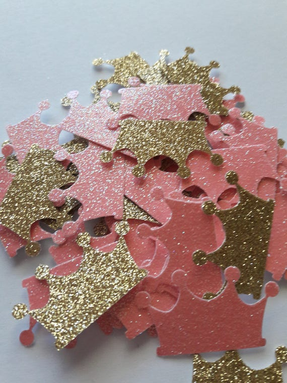 Royal Princess Baby Shower Decorations Pink And Gold Crown Etsy