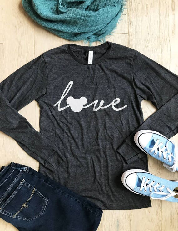 Mickey Mouse Love. Disney Shirt. Unisex Fit. Cool T Shirt.  e65f6d9a89