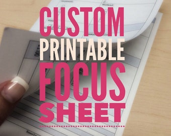 Printable Focus Sheet (CUSTOMIZED) - Day on Two Pages Half Letter