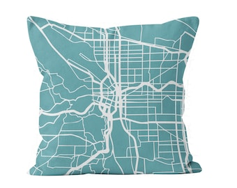 Map Pillow Covers