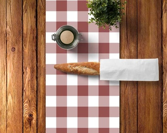 45 colors Plaid Table Runner, Large Gingham Table Runner, Plaid Table Runner, Rustic Table Runner, Marsala Dining Room, Marsala Kitchen