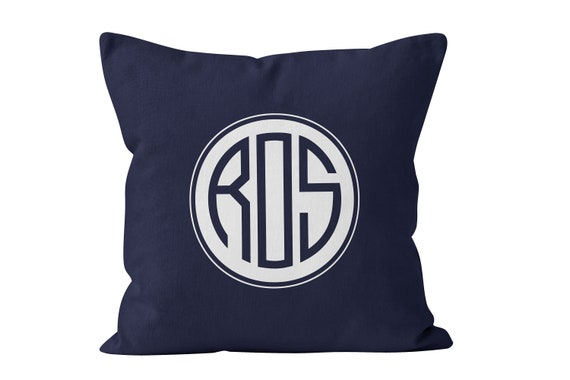 40 Colors 40 Letter Monogrammed Throw Pillow Cover Shown In Etsy Best Monogrammed Throw Pillow Covers