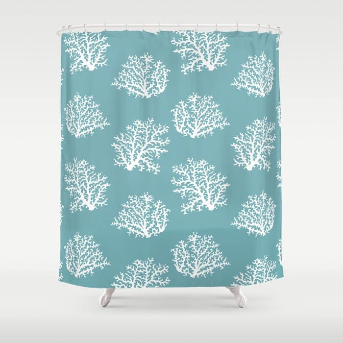 45 Colors Sea Coral Shower Curtain 45 Colors Ocean House