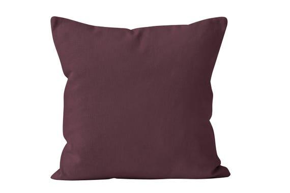 Burgundy Throw Pillow Cover Dark Mauve Throw Pillow Cover Etsy Awesome Throw Pillow Covers Etsy