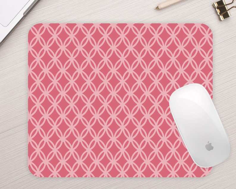 Home Office Gift Desk Accessories Bubblegum Pink Mouse Pad Cute Gift for Best Friend Sister Coworker Rectangle Mousepad Mouse mat