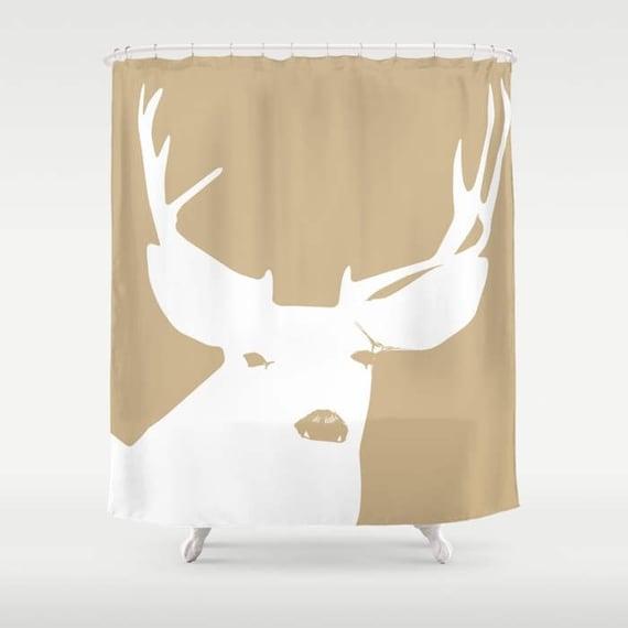 45 Colors Deer Shower Curtain Woodland Animal