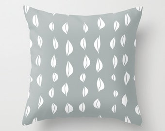 Flower Bulbs Pillow Cover, grey contemporary decor, modern decorative pillow cover