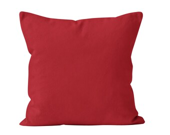 Red Pillow Cover, Red Decorative Pillow Cover, Red Pillow Sham, Red Pillows Covers Pillowcases, Red Throw Pillow Cover, Solid Red Decor _M