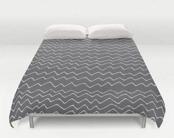 30 colors Chevron Duvet Cover, geometric bedroom decor, grey queen duvet cover, gray king duvet cover, queen size duvet covers, grey chevron