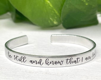 Be Still and Know | Psalm 46:10 | Bible Verse Scripture Bracelet | Christian Friend Encouragement Gift | Miscarriage Jewelry | Bereavement