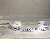 Do Small Things With Great Love Mother Teresa Bible Verse Bracelet Scripture Bracelet Gift For Her Confirmation Best Friend Gift