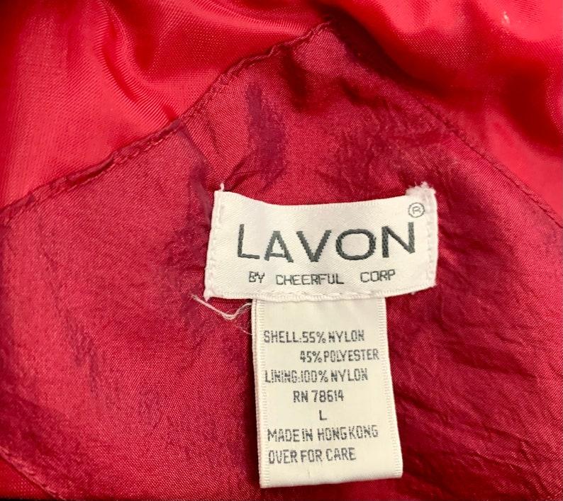 90/'s Maroon Lavon Long Zip Up Windbreaker Jacket L