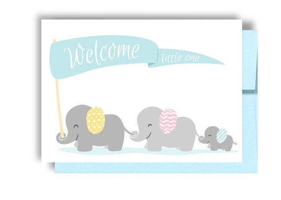 Welcome Little One Beautiful Baby Boy New Baby Greeting Card Blank Inside