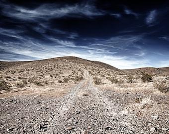 The Road, Death Valley, Desert, Landscape, Travel, Giclée Print, Archival, Photograph, Color