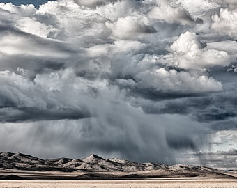 Fury, Nevada, Desert, Landscape, Travel, Giclée Print, Archival, Photograph, Color, Storm