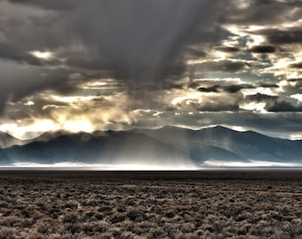 Storm, Nevada, Desert, Landscape, Travel, Giclée Print, Archival, Photograph, Color