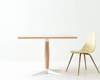 Peppermint Pie Pedestal Table - Minimal Scandinavian Style Square Dining Table