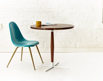 Side Show Bistro Table - Mid-Century Modern Round Pedestal Cafe Table