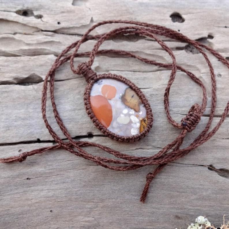 Fossilized Peanut Wood necklace