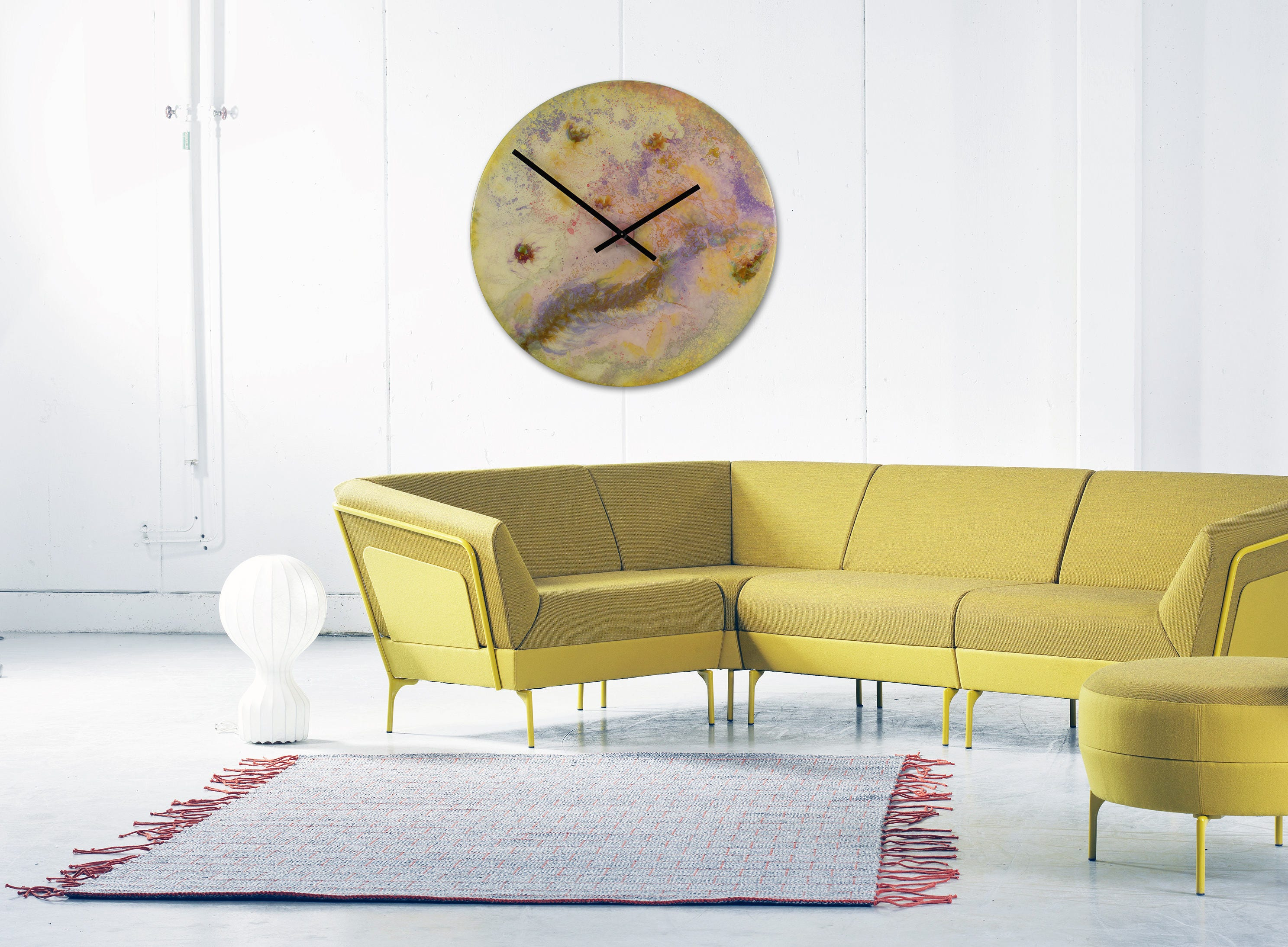Large Circular Art Astronomy Art Large Clock Art With Lights   Etsy