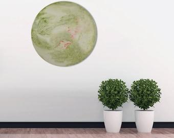 Circular Wall Light Large Round Glass Wall Art, Abstract Lighting Modern Wall Sconce, Glass Art Modern Lighting Circular Wall Sconce