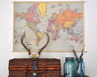 Stans vintage map with hanger kit