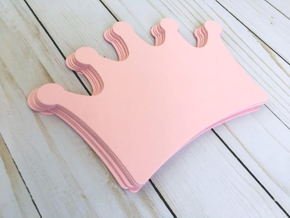 Crown Large Cut Out Shape Invitation Table Number Card