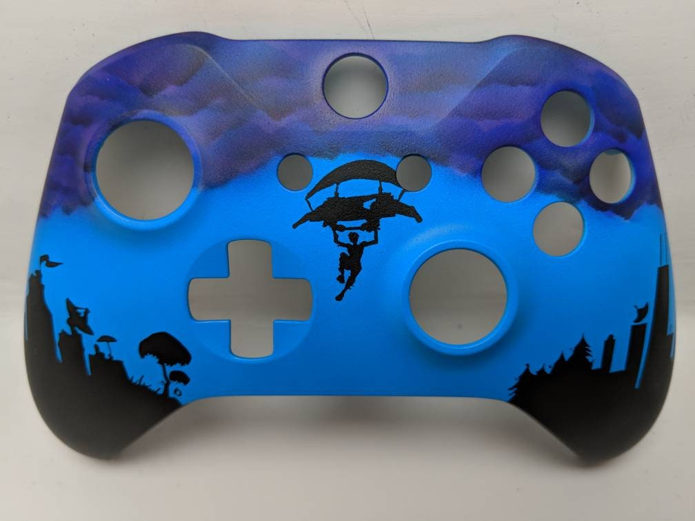 custom painted fortnite xbox one s faceplate  etsy