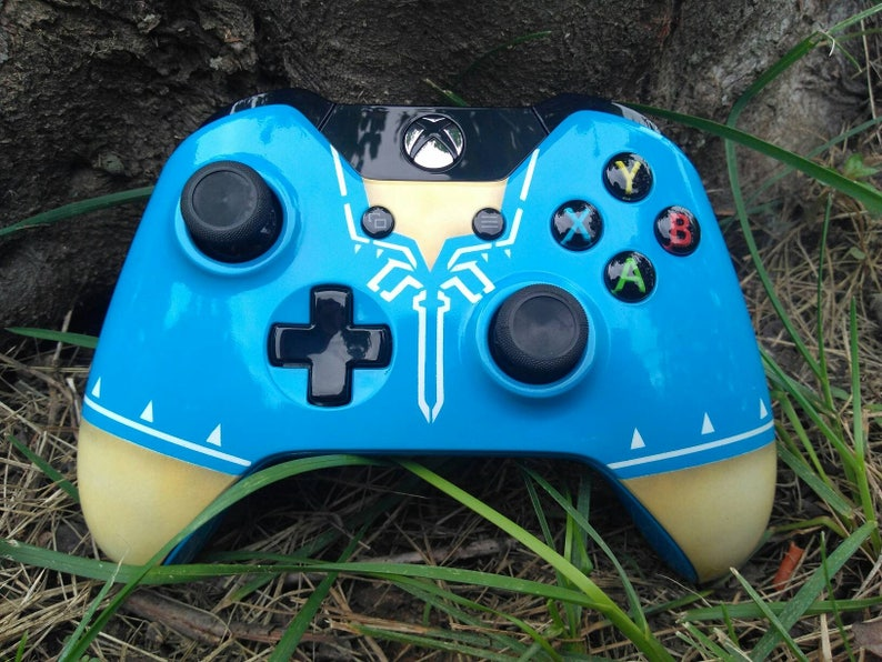 Custom Painted Legend of Zelda:Breath of the wild wireless Xbox one  controller 3 5mm