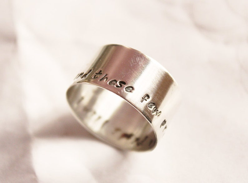 STERLING SILVER   ring,wide band ring,one of a kind,chunky ring,unique ring,Quote Ring Personalized Wide Band Ring,mens ring,woman ring