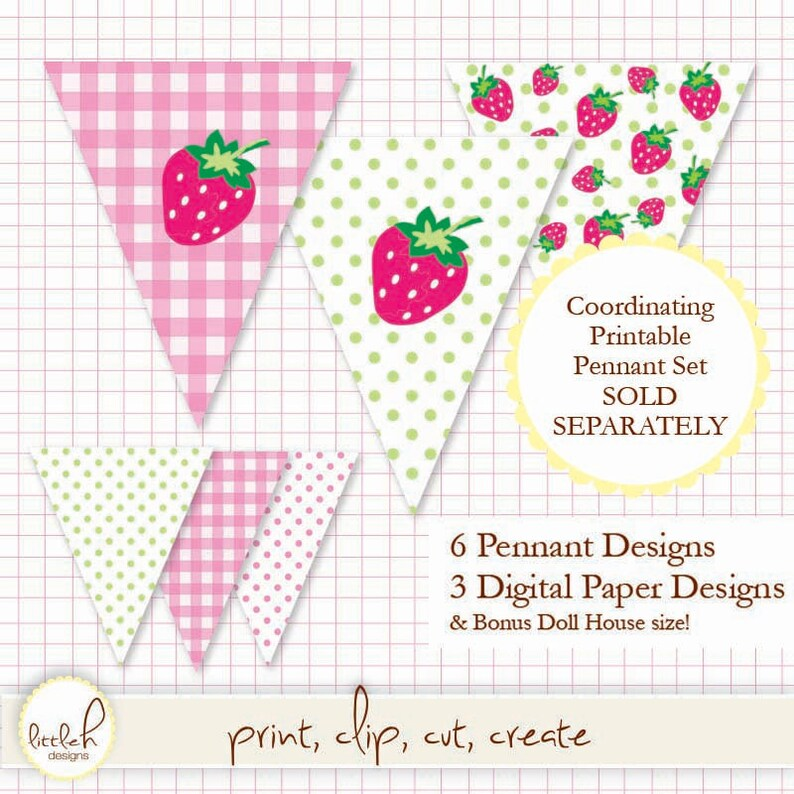 c6b454ec04dc7 Printable Pennant Pink Gingham- A thru Z & 0 thru 9 - Create any message!  36 pennants. 5.5