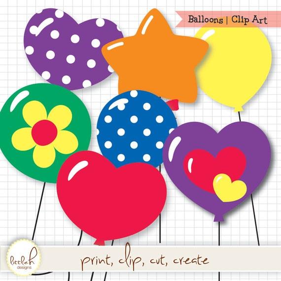 Palloncini Clip Art Digital File Png Con Sfondo Trasparente Clipart A Forma Di Fiore Di Stella Cuore Balloons