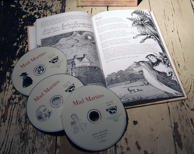 Mad Martins Triple CD & Book Package. Music By Gary Miller (Whisky Priests). Artwork By Me. Folk Music, Poetry, Spoken Word. Free Bonus CD.