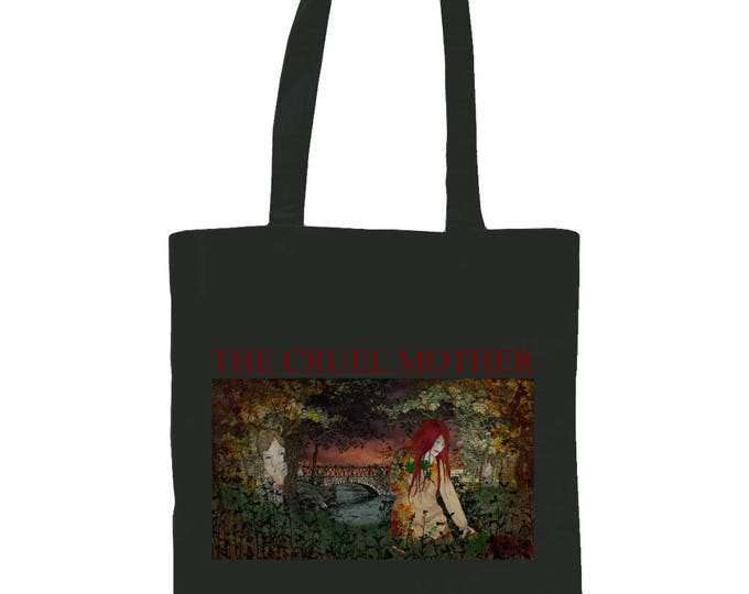 The Cruel Mother. Graphic Tote Bag With Original Illustration. Black.