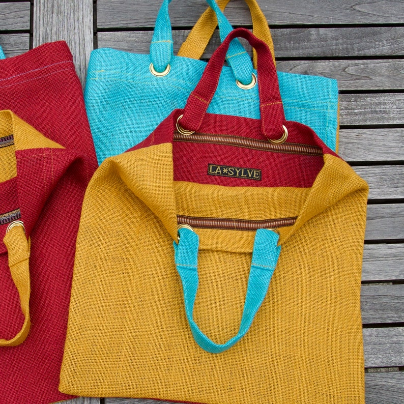 Two-coloured shopping bag