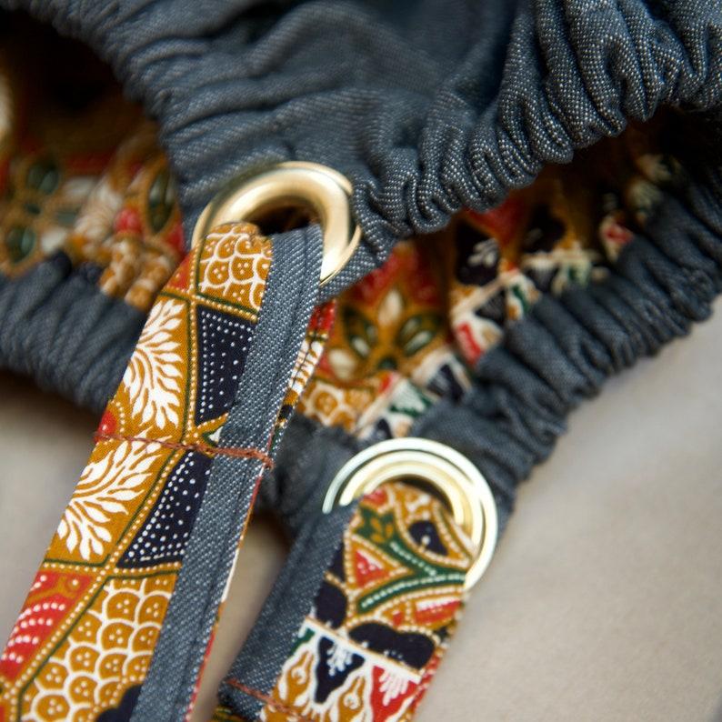 Denim Batik reversible